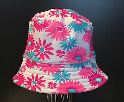*new* Girls Flower Bucket Sun Hat From Papoose One Size Fits All 50+ Upf