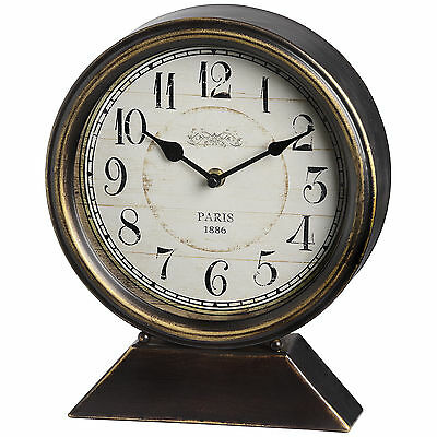 Black And Gold Large Mantle Clock