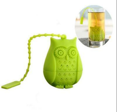 Silicone Filter Strainer Perforated Bird 1pcs Gifts Novelty New Tea Infuser Owl