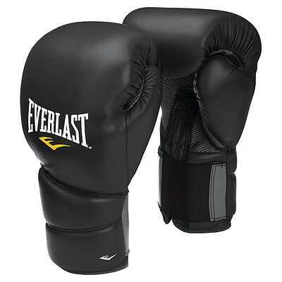 Everlast Protex 2 Training Boxing Gloves Black Kickboxing Muay Thai Sparring