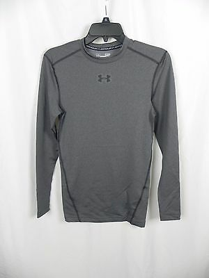 NEW Men's Under Armour Cold Gear Compression Top Gray Size S (S1-24)
