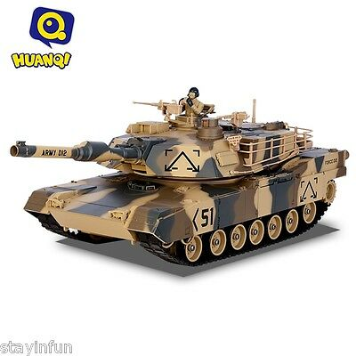 HUANQI 781 - 10 M1A2 Simulation Infrared RC Battle Tank Toy Marpat Desert