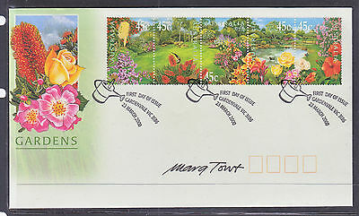 2000 Gardens Fdc Signed By Designer  Marg Towt. Scarce!!!!