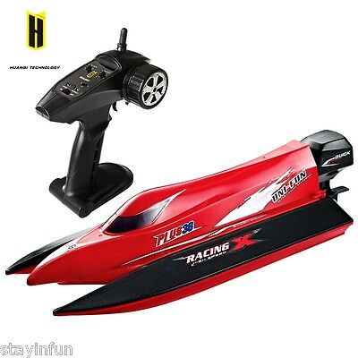 HUANQI 963 2.4G 4CH 50km/h Brushless Motor RC Boat with Water Cooling System