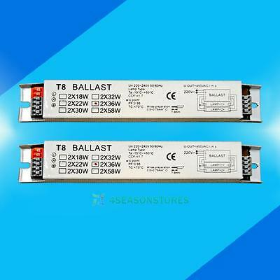 220-240v AC 2x36w Wide Voltage T8 Electronic Ballast Fluorescent Lamp Light Tube