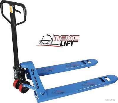 "Pallet Jack - Hand Truck 27"" X 48"" 5500 Lb Cap New 1-Year Cheap Freight Shipping"