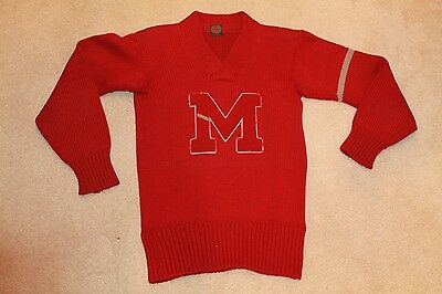 Vintage 1930s University MONTANA Grizzlies Letterman Sweater by Lowe & Campbell