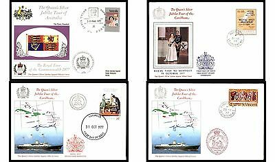 Worldwide 1977 Royal Tour Cover Collection Silver Jubilee