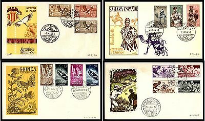 Spanish Colonies 17 Piece Colorful First Day Cover Collection 1950s