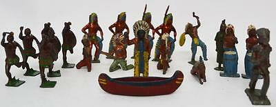 Large Job Lot X 21 Vintage Cast Lead/Metal  Indians -Pl-2493