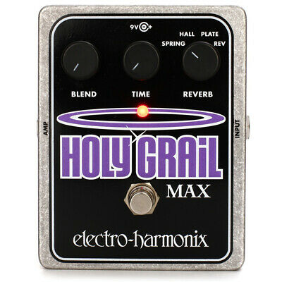 Electro-Harmonix Holy Grail Max Reverb Effects Pedal (Reverse, Plate + Hall)