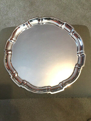 """12"""" Sterling Silver Tray by Poole, """"Chippendale"""""""