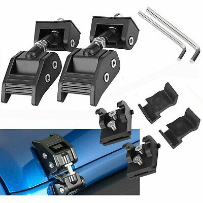 Hood Buckle Catch Lock Latches Locking For Jeep Wrangler JK 2007-2015 1Pair