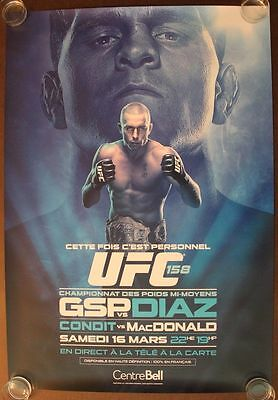 Official UFC 158 French St.Pierre vs Nick Diaz Poster 27x39 (Near Mint)