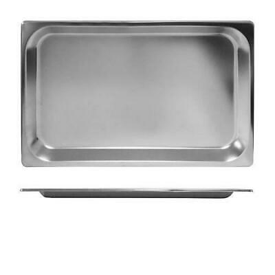3x Bain Marie Tray / Steam Pan / Gastronorm 1/1 Size, 25mm Deep, Stainless Steel