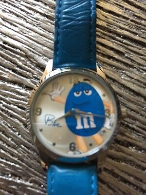 m & m's Blue Character Watch Preowned New Battery Runs Well