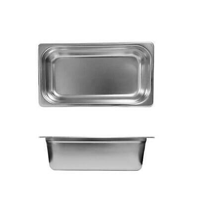 12x Bain Marie Tray / Steam Pan / Gastronorm 1/3 Size 150mm Deep Stainless Steel