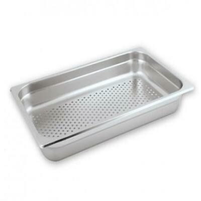 Bain Marie Tray / Steam Pan / Gastronorm, Perforated, 1/1 Size, 150mm Deep