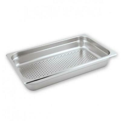 6x Bain Marie Tray / Steam Pan / Gastronorm, Perforated, 1/1 Size, 100mm Deep
