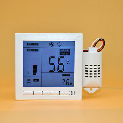 White PC Bring Intelligent Digital Humidity Temperature Control 110-240V C37LJ
