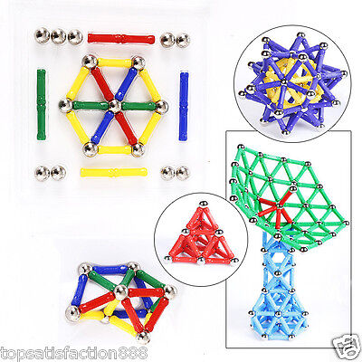 60Pcs Baby Kids Intelligence Educational Toys Magnetic Building Construction Toy