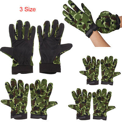 Bike Motorcycle Military Tactical Riding Hunting Full Finger Gloves Outdoor