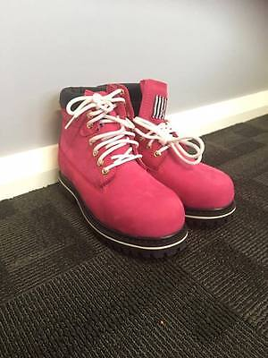 She Wear Pink Steel Cap Safety Boots
