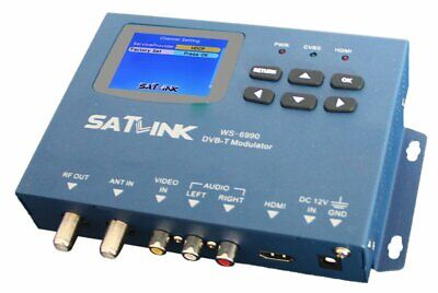 Satlink WS-6990 Single/One Channel DVB-T Digital Modulator Supports AV/HDMI