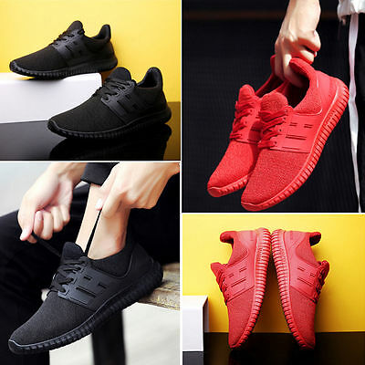 Fashion Men Pumps Trainers Gym Lace Up Mesh Sports Running Shoes Casual Sneakers