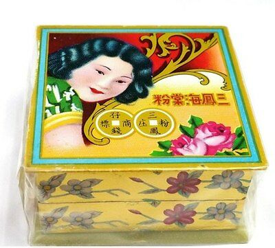 Bedak Sam Fong Traditional Pressed Face Powder rods Block in White Free Shipping