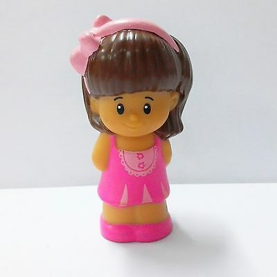 Fisher-Price Little People Mia with Pink dress Cute figure Girl Toy