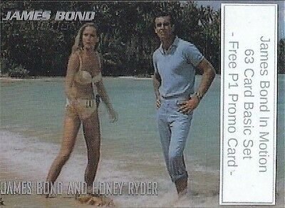 James Bond In Motion - 63 Motion Card Basic/Base Set & Free P1 Promo Card