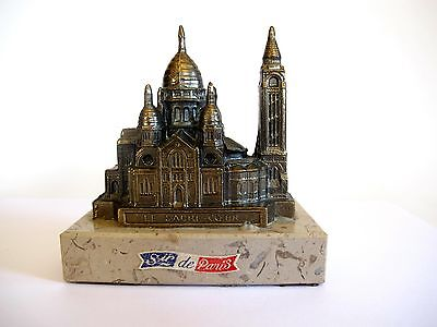 Kathedrale Paris Le Sacre Coeur Bronze Messing auf Marmorsockel