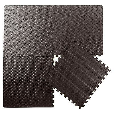 24-144 SQ FT Interlocking Eva Foam Mats Tiles Gym Play Garage Workshop Floor Mat