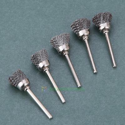 10Pcs 15mm Stainless Steel Wire Wheel Wire Cup Brush Cleaner Rotary Polish Tools