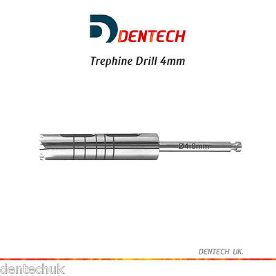 Trephine Drill 4Mm Irrigation Dental Implant Instruments - Surgical Lab Tools