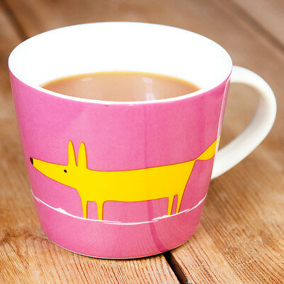 New Scion Mr Fox Pink & Orange Contemporary Fine China Personalised Gift Mug