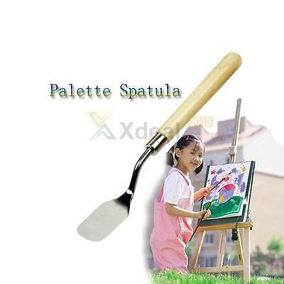 XD#3 New Wood Handle Metal Palette Knife Spatula Oil Texture Painting Art Crafts