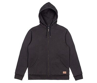8e182a57 Brixton Supply Co Billings Zip Quilted Lining Fleece Hoody Washed Black