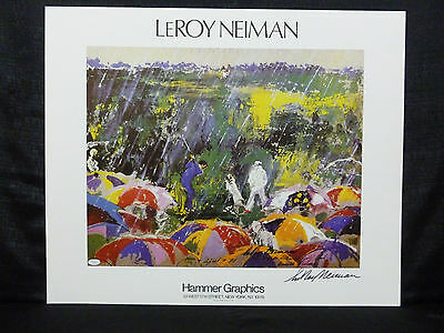 Leroy Neiman Signed 1973 Masters Arnold Palmer Lithograph JSA H39689