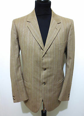 CULT VINTAGE '70 Completo Vestito Giacca Uomo Tweed Man Full Dress Sz.M - 48