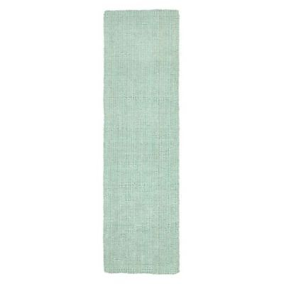 NEW Rug Culture Torpoint Chunky Weave Jute Runner Rug, Blue