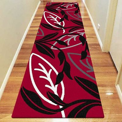 NEW Saray Rugs Amazon Lily Modern Runner Rug in Red