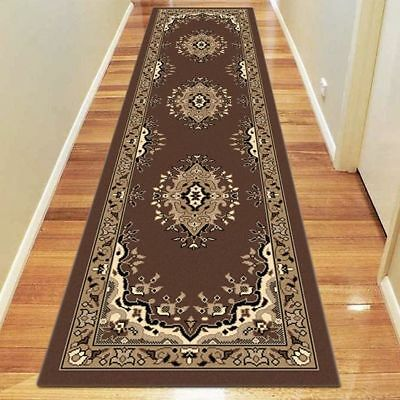 NEW Saray Rugs Lacily Oriental Runner Rug in Black, Brown, Grey, Red