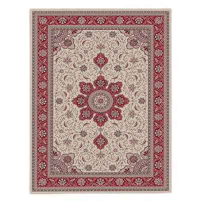 NEW Saray Rugs First Lotus Oriental Rug in Beige, Black, Red