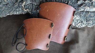 Leather archery arm guard bracer,UK made, 2 colours and sizes