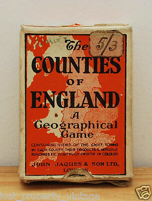 Counties of England vintage card game Series No 4 Southern Counties flashcards