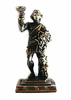ANCIENT GREEK ZAMAC MINIATURE OF BACCHUS (DIONYSOS) Bronze