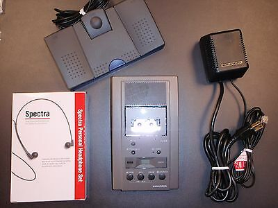 Grundig Dt3110 microcassette transcriber with foot pedal, headset and warranty