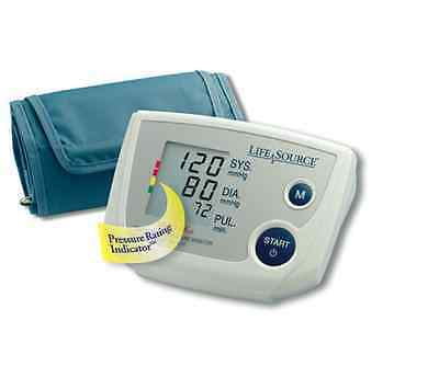 New A&D Lifesource Arm Cuff LCD Digital Blood Pressure Pulse Monitor USA SELLER